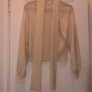 See By Chloé Ivory Sweater W/ Scarf Medium